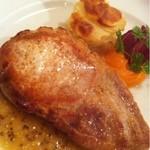 デュ ムーラン - 高座豚リブロースのソテー 粒マスタードソース