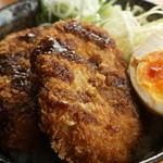 ラーメン あっぱれ - 当店オススメ!創業40年お肉屋さんの味!ミンチカツ丼 580円