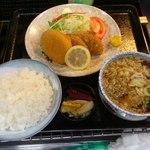 そば処まるじゅう - 料理写真:まるじゅう定食(+ミニうどん) 600円!そばも選べます!