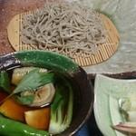 本格手打ちそば そば庵 吟 - 夜御前  春野菜のつけ蕎麦