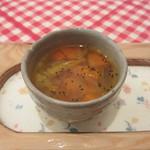 シンボパン - 人参とパプリカのコンソメスープ
