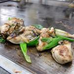 お好み焼き ほり - <2013年3月>カキの鉄板焼き