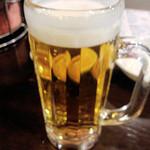 ホルモン平田 - 生ビール 450円