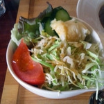 マゴコロ - カツカレー(チキンカツ)870円のサラダ