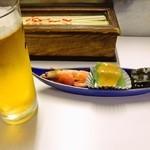 板前料理 みかさ - 生ビールとお通し