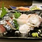板前料理 みかさ - しめ鯖と蛸の刺身