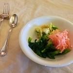 ラビーノ - 料理写真:サラダ。メインの料理を注文すると付きます