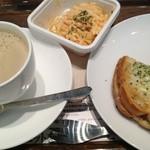 上島珈琲店 - ランチセット(クロックムッシュ&サラダ)