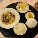 17872521 - 桃華樓ランチ(回鍋肉)