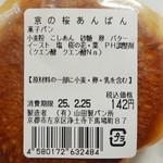 ヤマダベーカリー - 季節限定 さくらあんぱん(原材料表示、2013年2月)