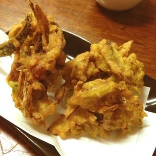 居酒屋 海坊主 - 車海老とアーサの天ぷら