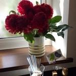 おだいどこmamecco - 窓辺の生け花。オーナーのセンスが光ります!