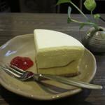 喫茶あと - ダブルチーズケーキ