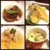 Kitayama - 料理写真:イイダコのの煮つけ☆白身魚と野菜の天ぷら☆タラの子の煮浸し☆海と山の茶碗蒸し☆  ○イイダコ やわらかくて、やさしい味つけです。 ○天ぷら ナス、カボチャ、大葉、そして白身の魚。 残念ながら何の魚かわかりませんm(_ _)m 生姜たっぷりの天ぷらツユを付けていただきます。  ○タラ めっちゃイイですd(^_^o) 出汁がしっかりとしみこんでいます。  ○茶碗蒸し 干し椎茸の出汁⁇がいい感じです☆