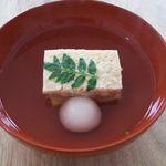 17882035 - ほたてのすりつぶしと揚げ豆腐