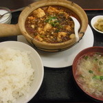 水漫庭 - 料理写真:麻婆豆腐のセット