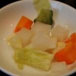 蘭亭 - 蘭亭定食 野菜の酢漬け