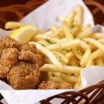 ベジラボ - 有田鶏の唐揚げとトリュフオイルのポテトフライ