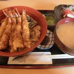 魚 千ふじ - 天丼&刺身1050円