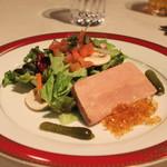 レストラン香味屋 - フォア・グラのテリーヌ サラダ添え
