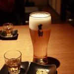 17885199 - 生ビール。オリジナルのグラスです