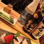 魚のてっぺん - この日のお任せ刺身三種盛り。新鮮だね!