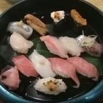 海商寿し - 寿司 食べかけ(^^;
