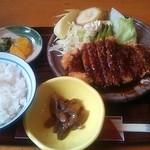 17888933 - 味噌カツ定食860円