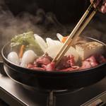 牛庵 - 神戸牛すき焼き(牛肉前菜・ご飯かうどんがついてます)