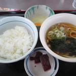 山田うどん - 料理写真:TKG朝食(小饂飩) 240円
