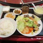 17895626 - エビと五目野菜炒め
