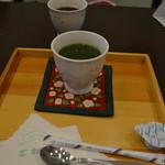 甘味茶屋 茶○ - ランチセットの抹茶ドリンク