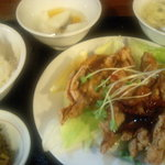 翠鮮楼 - 鶏の唐揚げ甘酢かけセット