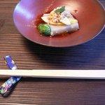 雙柿庵 - 蕎麦豆腐(蕎麦の実プチプチ、こごみが美味しかった)