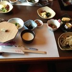 ひなた - 朝食(中央のお豆腐が濃厚でウマウマです。)