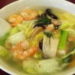 17903710 - 芝エビ野菜麺 650円