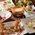 囲 - 囲のおすすめチーズフォンデュの入った春の味覚コースは飲み放込4500円