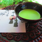 休耕庵 竹の庭の茶席 - 拝観券 @¥200− 抹茶券 @¥500−