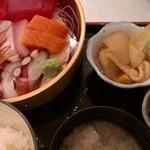 天海のろばた  分店  - 刺身の盛り合わせ定食(1000円)