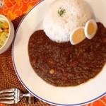 らららカレー - ひよこ豆とひき肉のキーマカレー