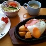 カフェ テラス サクランボ  - イタリアンハンバーグ定食