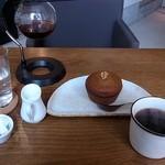 カフェ カッパー キャット - くるみとクリームチーズ入りパンプキンマフィン/コーヒーセット