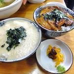 らーめん丸木屋 - とろろご飯(小)& チャーシュー丼(小)(2013年3月)