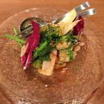 ラキュイエール - 温野菜のサラダ仕立て~バーニャカウダソース~(980円)2013年3月