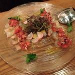 ラキュイエール - 本日の鮮魚 ヒラメのカルパッチョ2013年3月