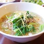 台湾小吃 花蓮 - 搾菜肉絲麺(ザーサイと豚肉のラーメン)