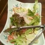 はなの舞 - サラダはなかにぱりぱり麺が入っててよかった