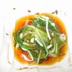 玄海鮨 - 突き出し(えのきのもずく酢和え)