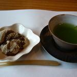 料理屋くおん - ☆デザートは本蕨餅&煎茶☆