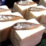 17929750 - スクガラス豆腐。上にのている小さいお魚が塩味で付けてあり、お酒のつまみに最適です